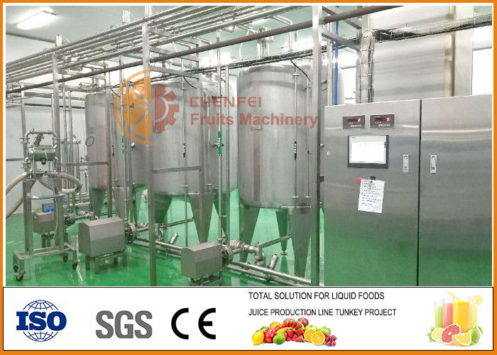 SS304 Blending System , High Effiency Complete Juice And Jam Blending line