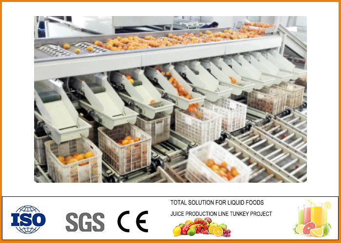 Energy Saving Orange Juice Production Line With PLC Touch Screen ISO9001