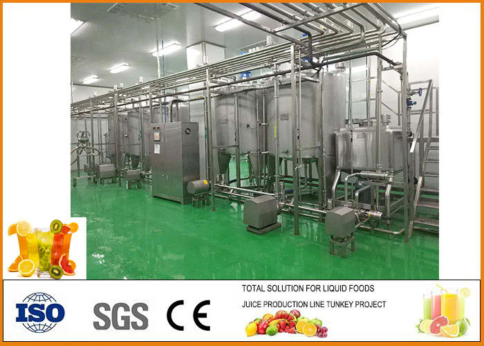 3T/H Fruit Juice Blending System Production Line CFM-B2-03T Easy Operation